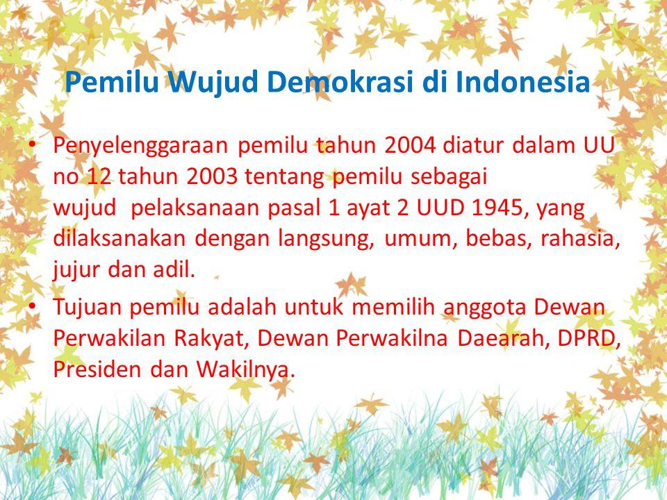 Pemilu Wujud Demokrasi di Indonesia