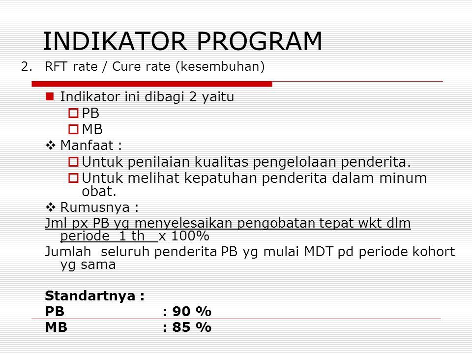 INDIKATOR PROGRAM PB MB