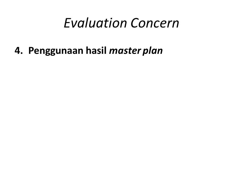 Evaluation Concern Penggunaan hasil master plan