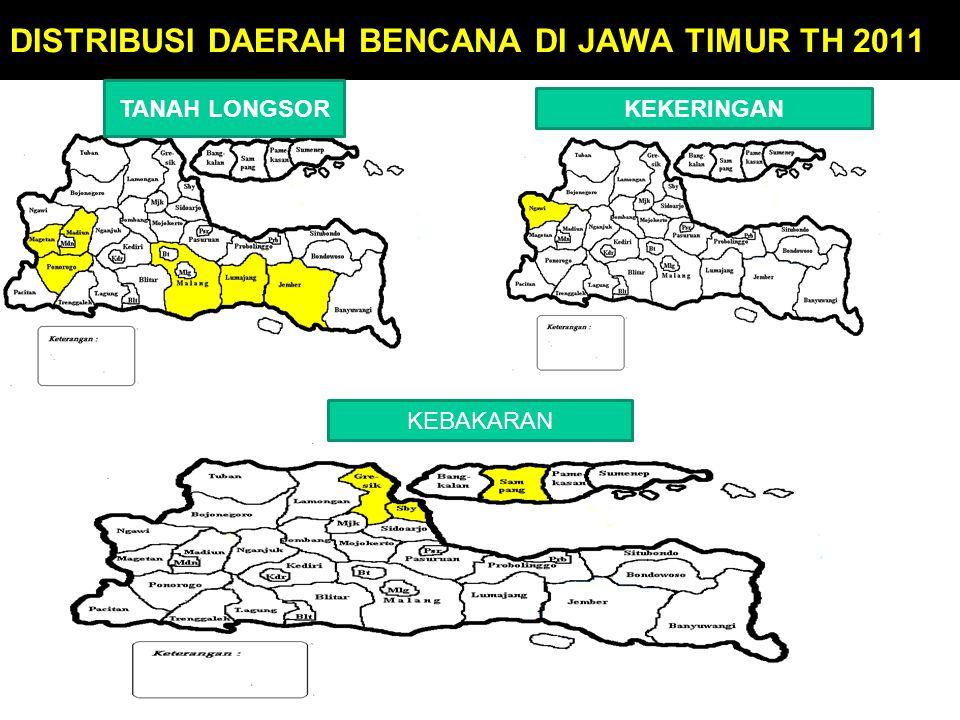 DISTRIBUSI DAERAH BENCANA DI JAWA TIMUR TH 2011