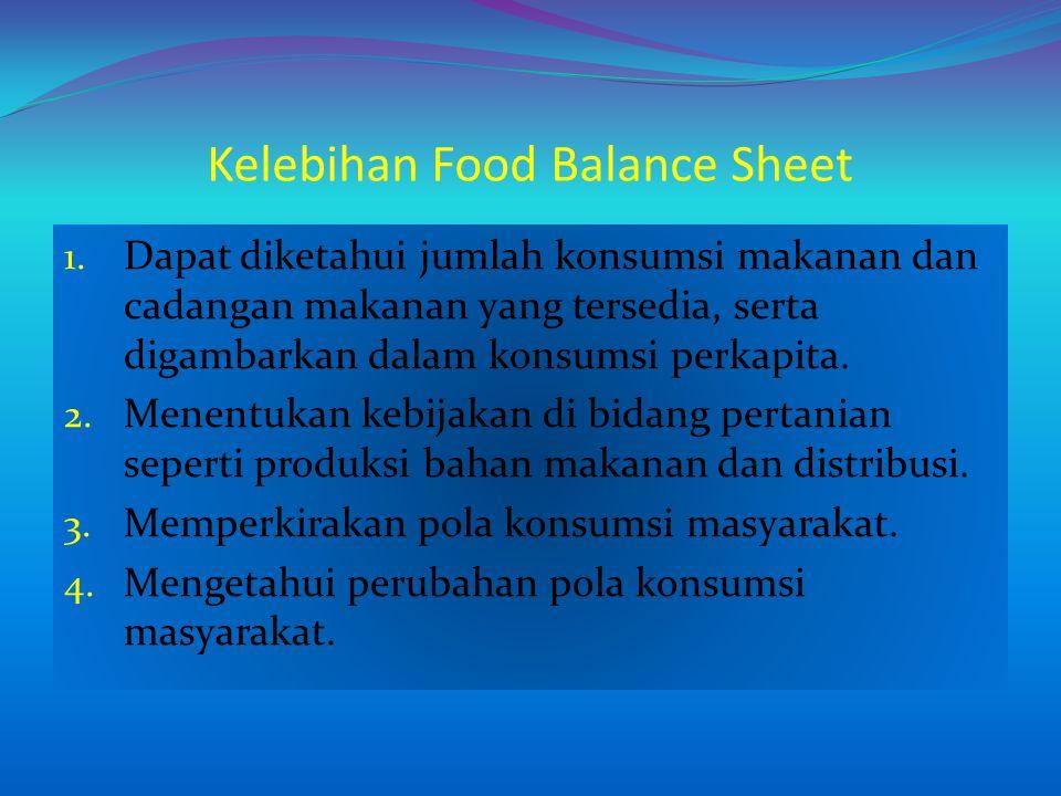 Kelebihan Food Balance Sheet