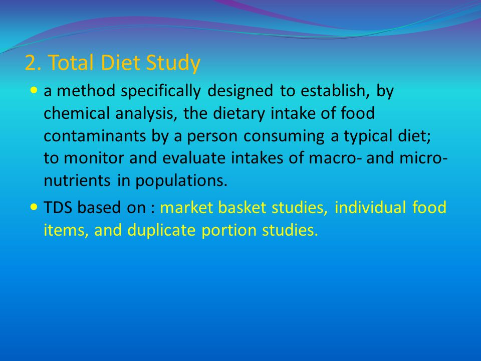 2. Total Diet Study