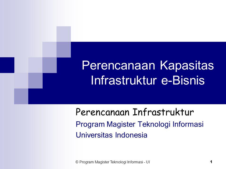 Perencanaan Kapasitas Infrastruktur e-Bisnis