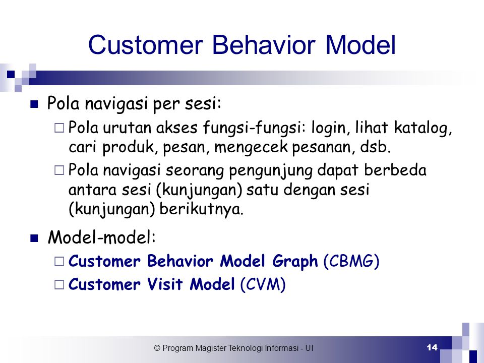 Customer Behavior Model