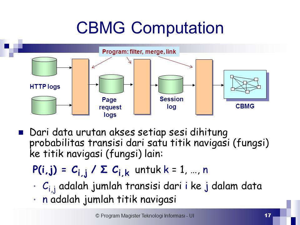 Program: filter, merge, link