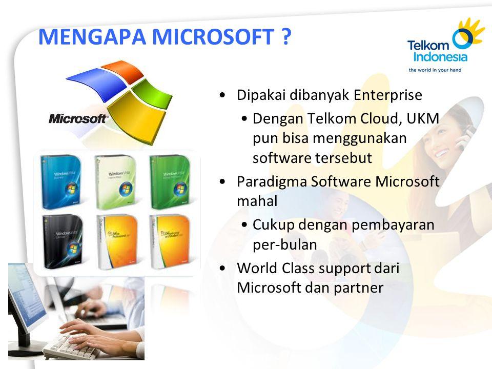 MENGAPA MICROSOFT Dipakai dibanyak Enterprise
