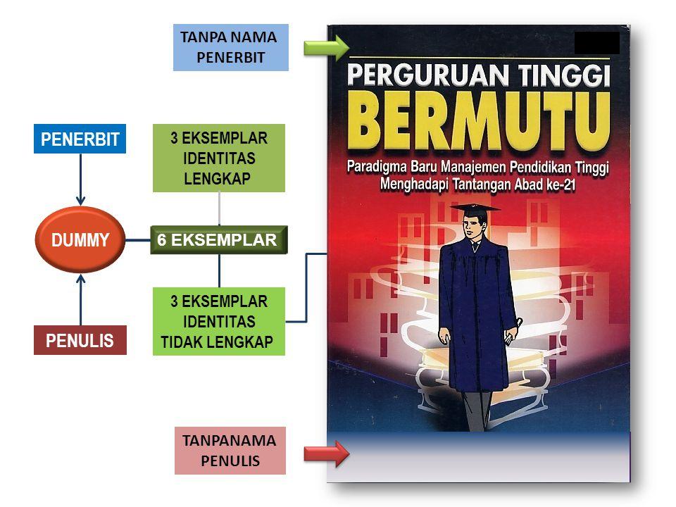 PENERBIT DUMMY PENULIS TANPA NAMA PENERBIT 3 EKSEMPLAR IDENTITAS