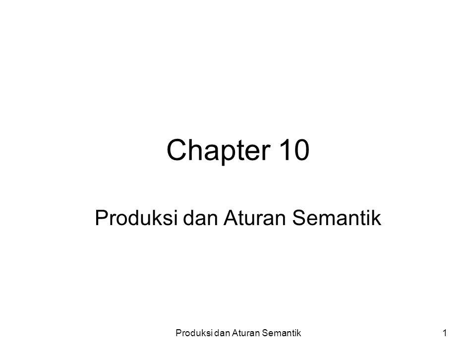 Produksi dan Aturan Semantik