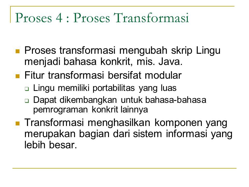 Proses 4 : Proses Transformasi