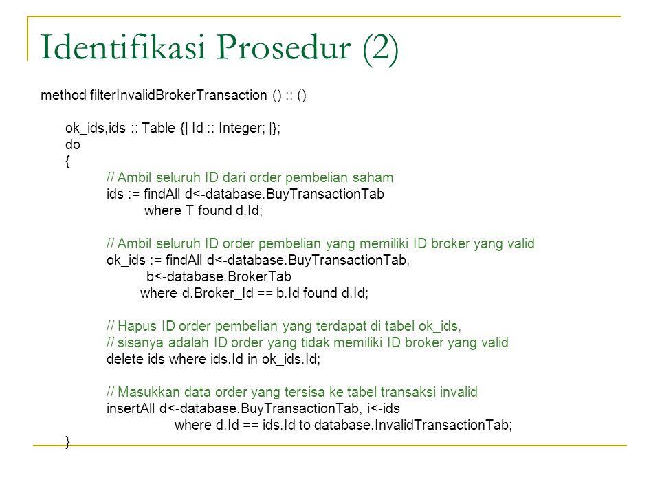 Identifikasi Prosedur (2)