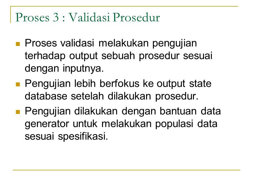 Proses 3 : Validasi Prosedur