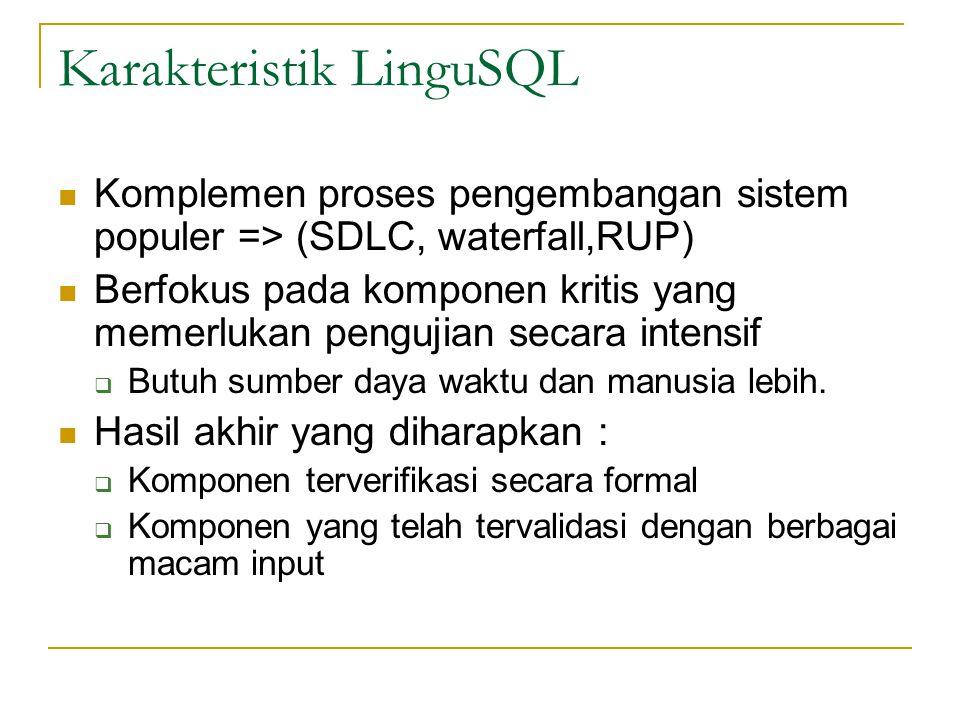 Karakteristik LinguSQL