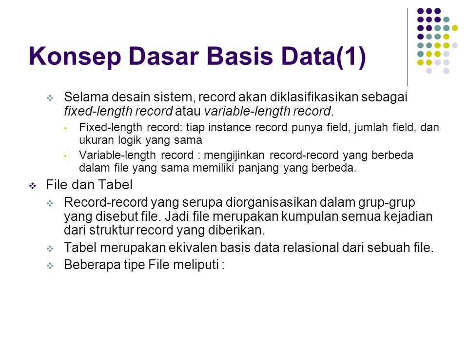 Konsep Dasar Basis Data(1)