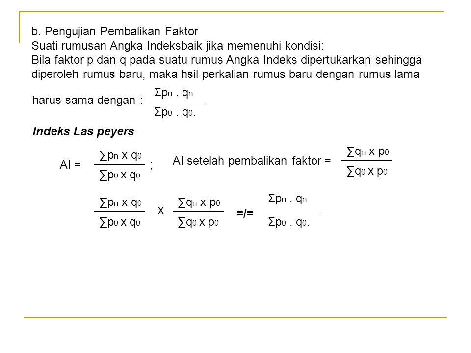 b. Pengujian Pembalikan Faktor