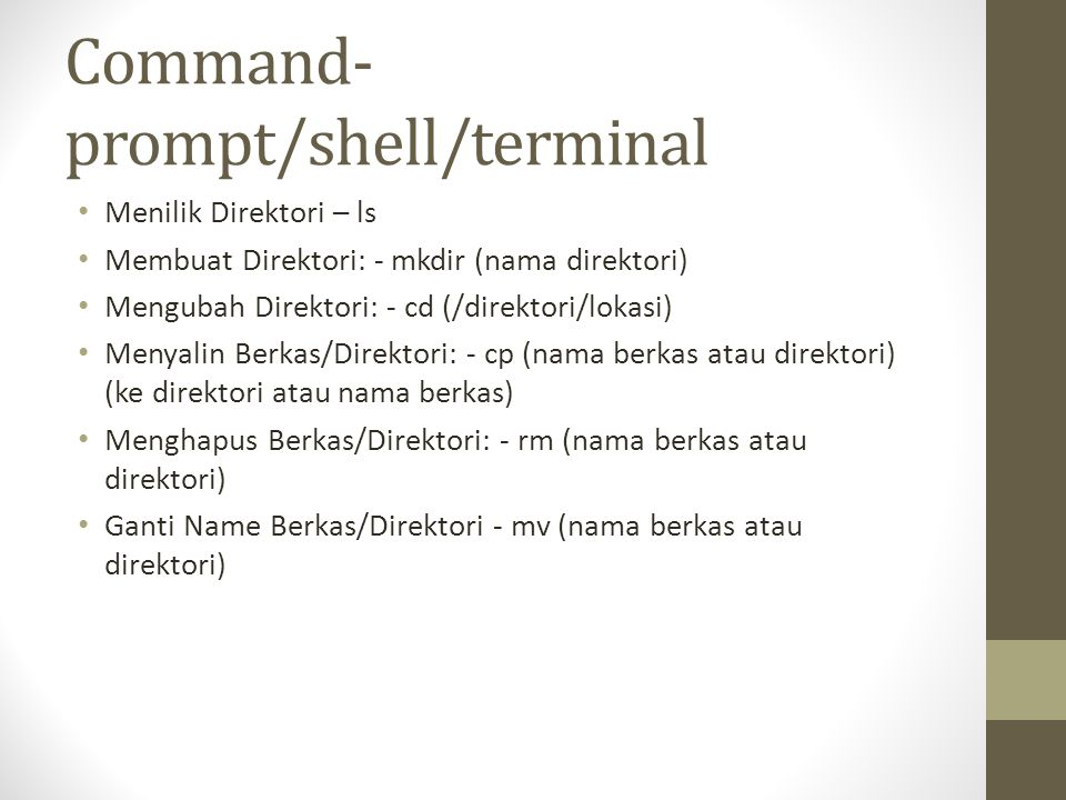 Command-prompt/shell/terminal