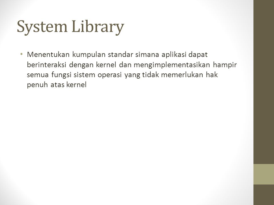 System Library