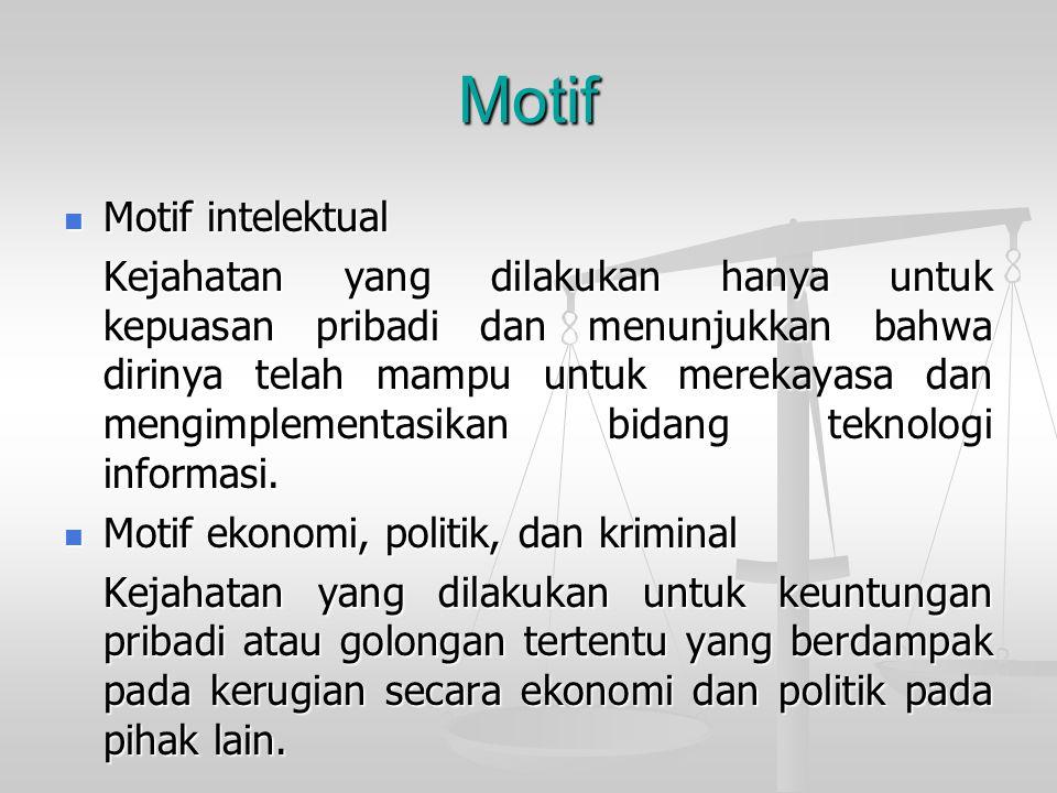 Motif Motif intelektual
