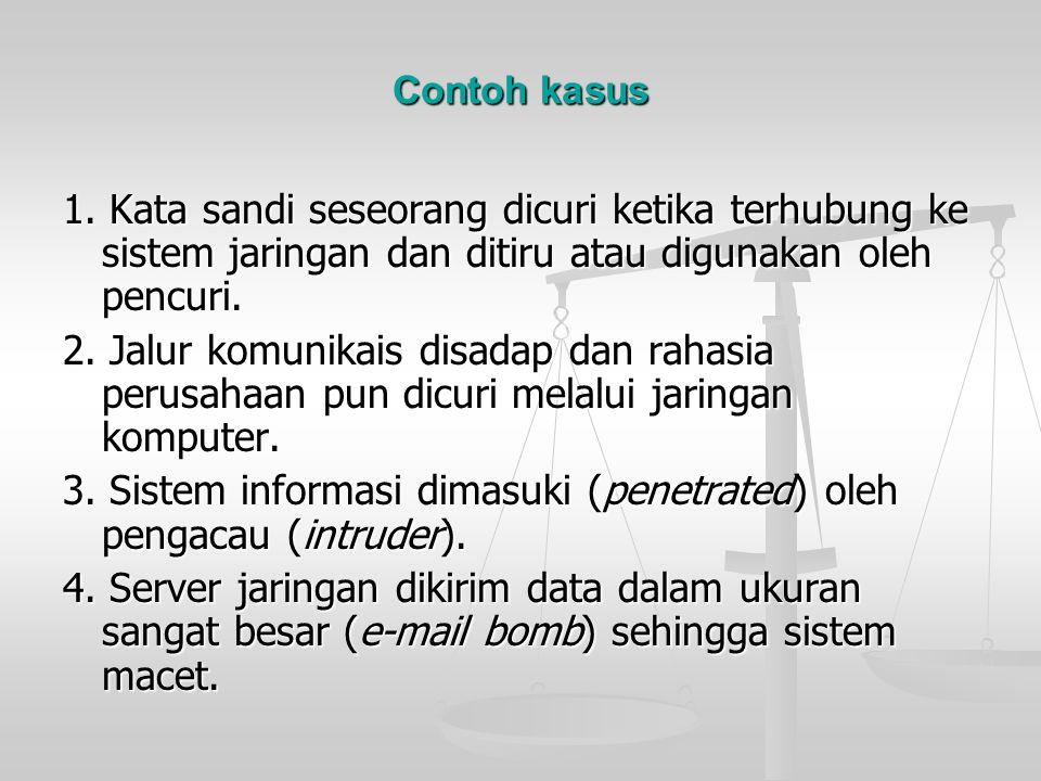 3. Sistem informasi dimasuki (penetrated) oleh pengacau (intruder).