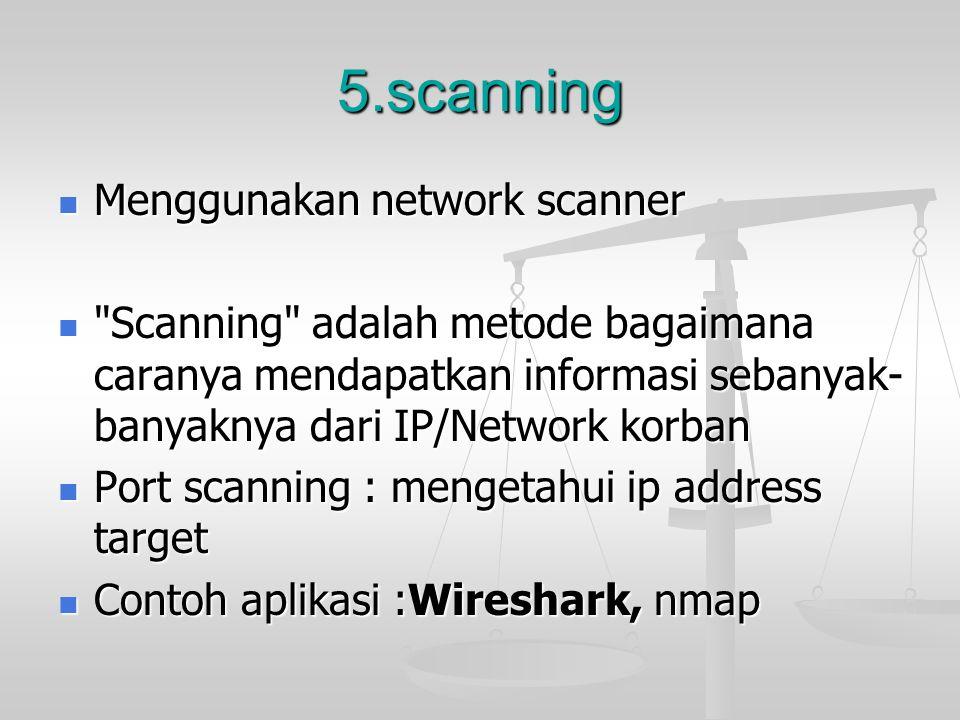 5.scanning Menggunakan network scanner