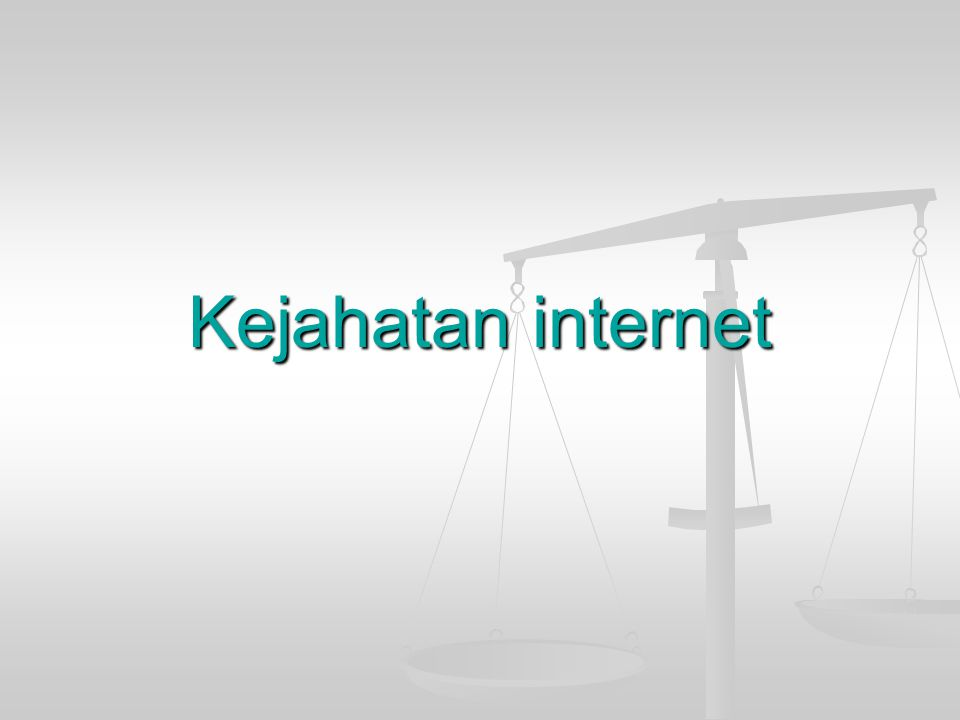 Kejahatan internet