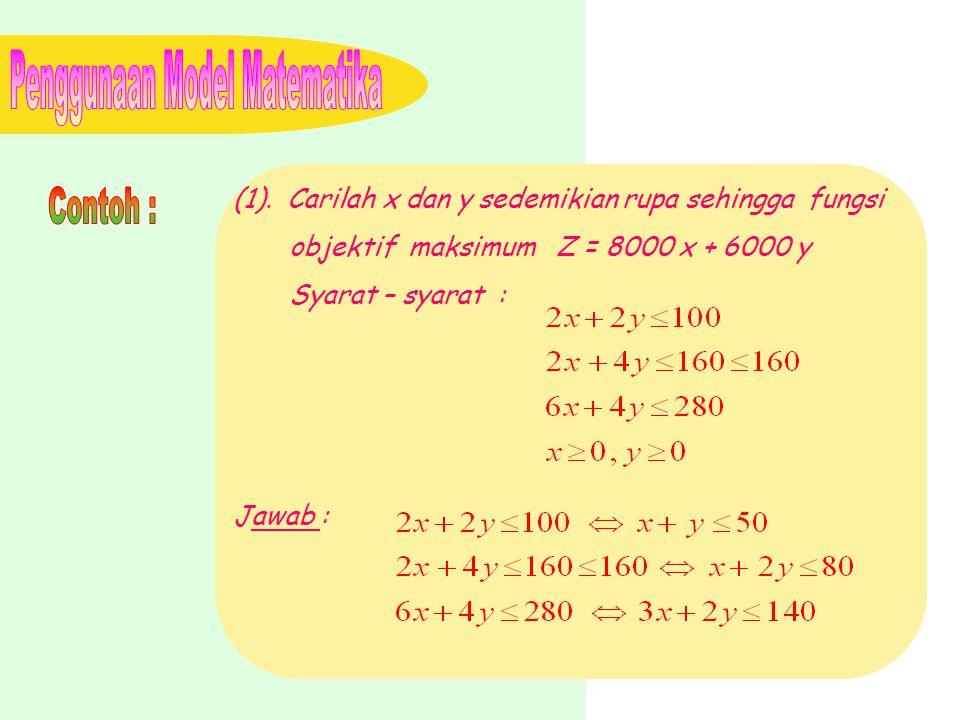 Penggunaan Model Matematika