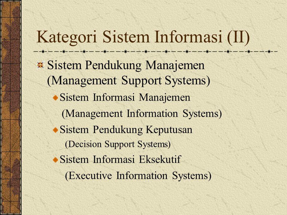 Kategori Sistem Informasi (II)