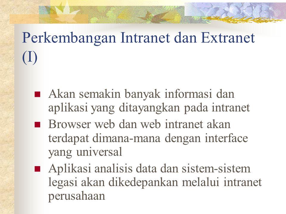 Perkembangan Intranet dan Extranet (I)