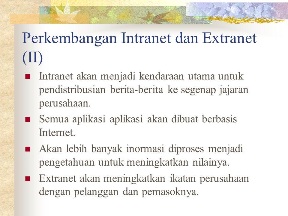 Perkembangan Intranet dan Extranet (II)