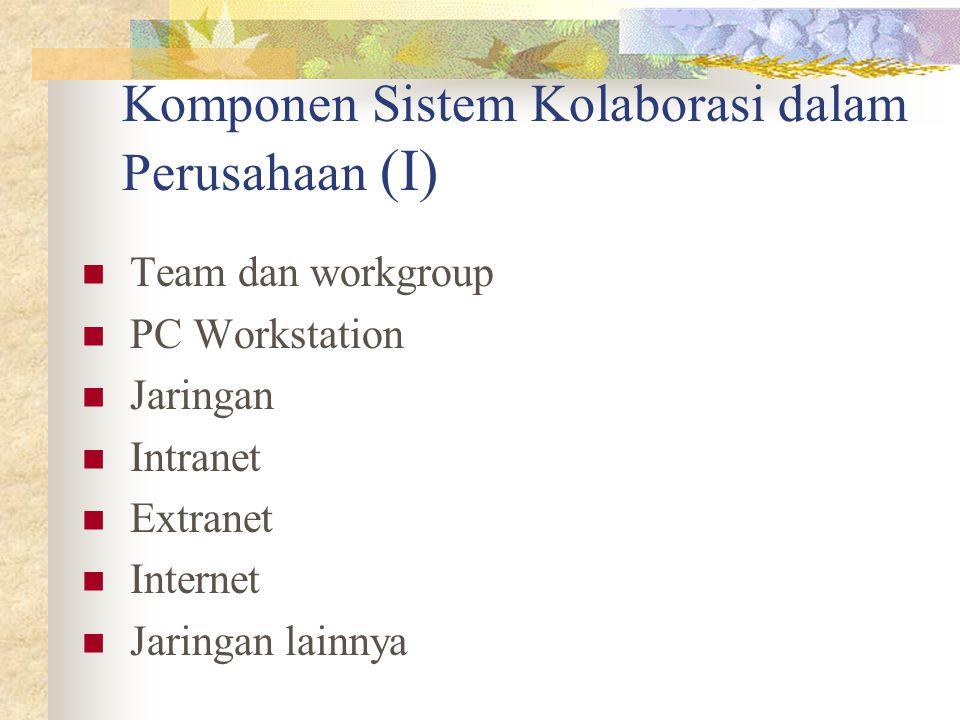 Komponen Sistem Kolaborasi dalam Perusahaan (I)