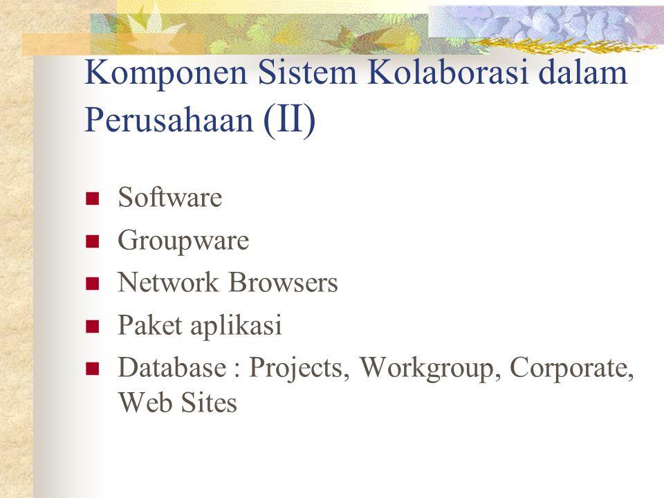 Komponen Sistem Kolaborasi dalam Perusahaan (II)