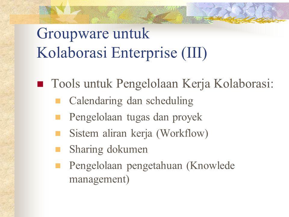 Groupware untuk Kolaborasi Enterprise (III)