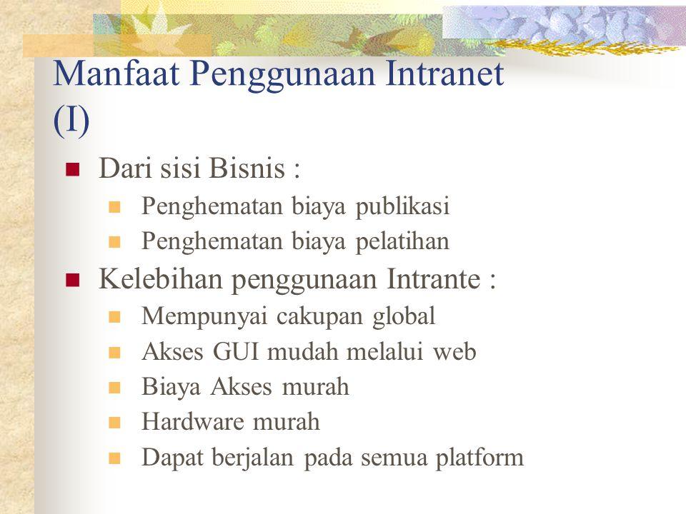 Manfaat Penggunaan Intranet (I)