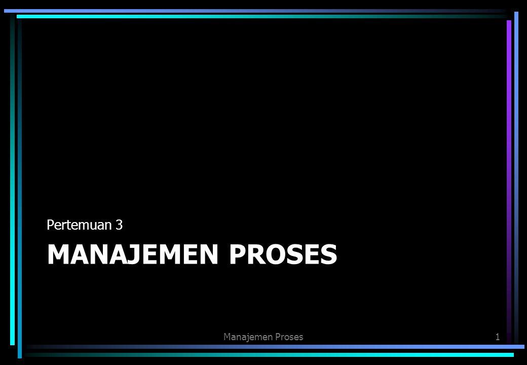Pertemuan 3 Manajemen proses Manajemen Proses