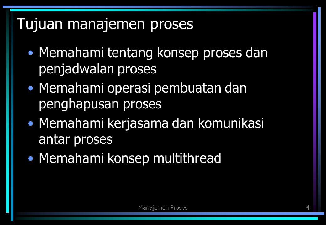 Tujuan manajemen proses