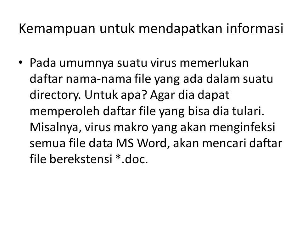 Kemampuan untuk mendapatkan informasi
