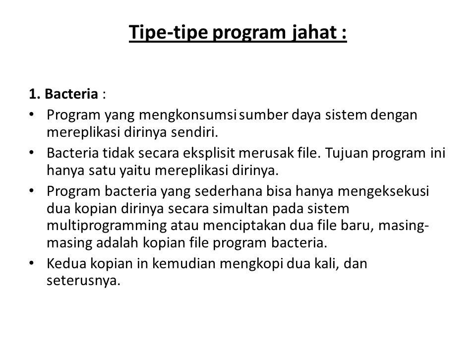 Tipe-tipe program jahat :