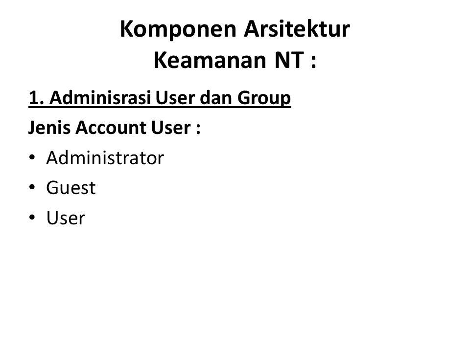 Komponen Arsitektur Keamanan NT :