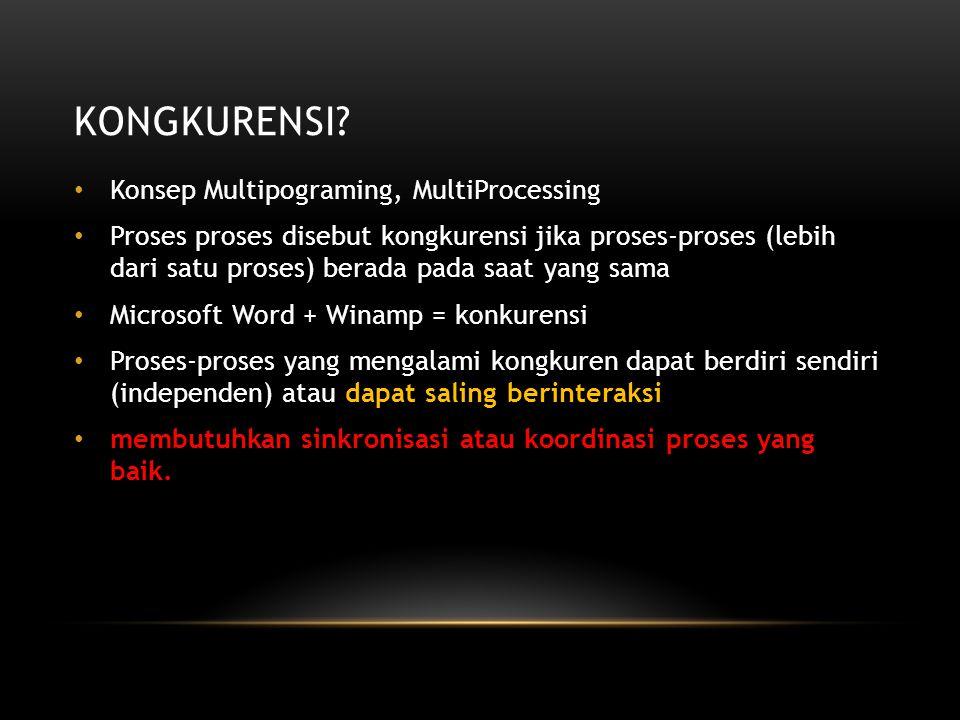 Kongkurensi Konsep Multipograming, MultiProcessing