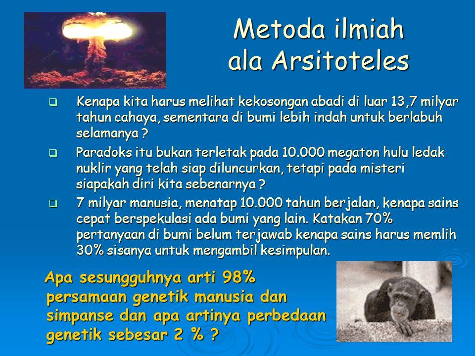Metoda ilmiah ala Arsitoteles