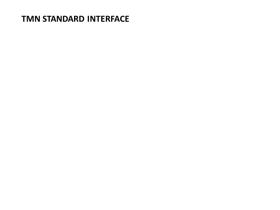 TMN STANDARD INTERFACE
