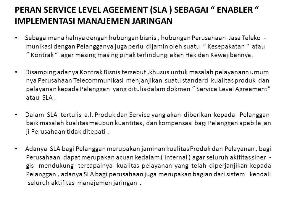 PERAN SERVICE LEVEL AGEEMENT (SLA ) SEBAGAI ENABLER