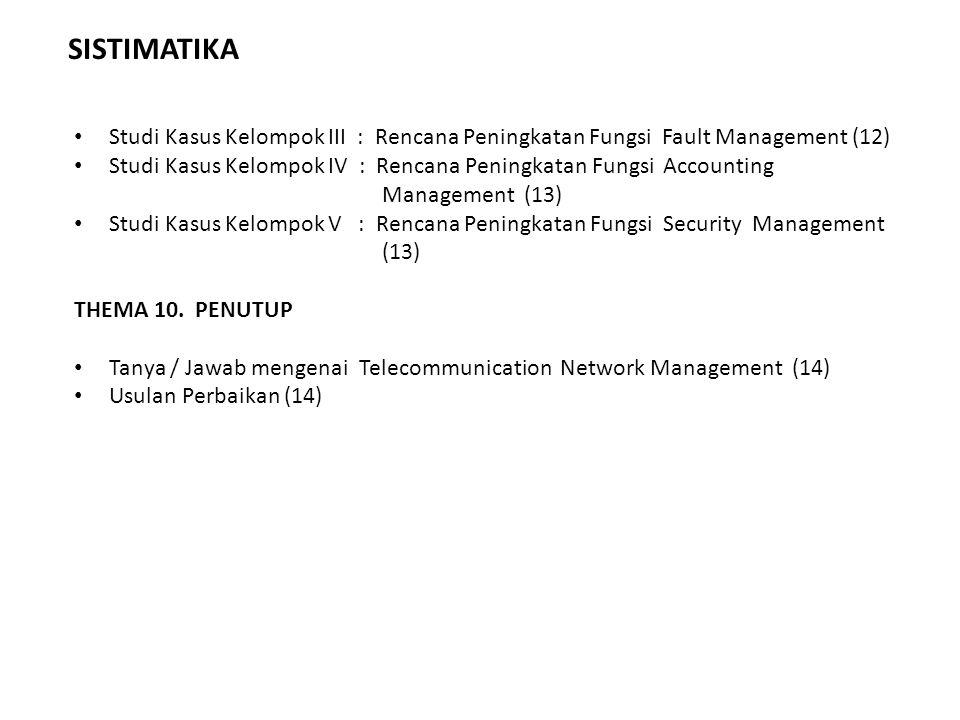 SISTIMATIKA Studi Kasus Kelompok III : Rencana Peningkatan Fungsi Fault Management (12)