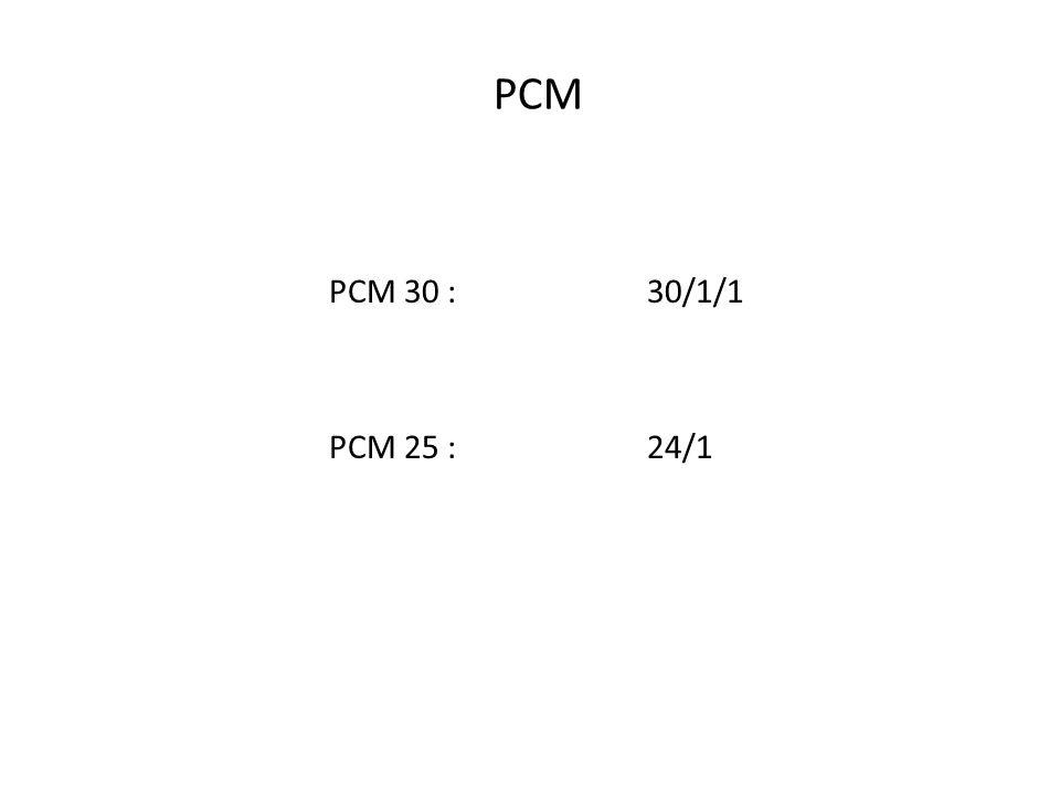 PCM PCM 30 : 30/1/1 PCM 25 : 24/1