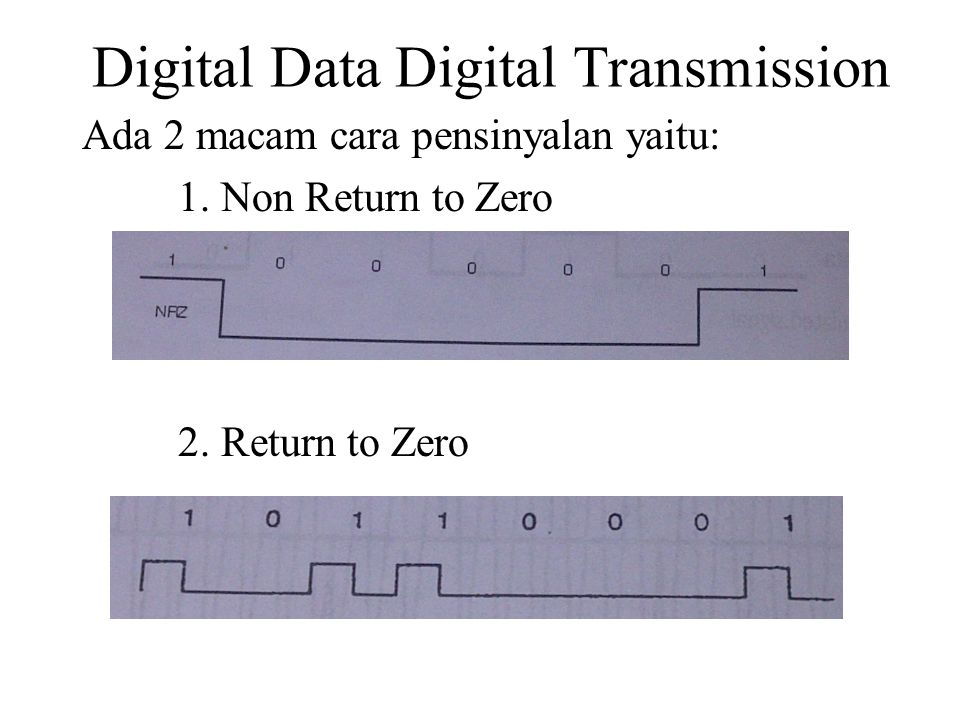 Digital Data Digital Transmission