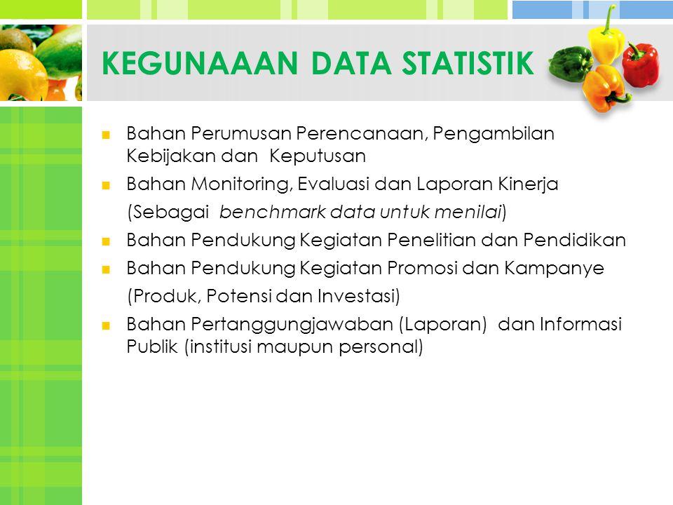 KEGUNAAAN DATA STATISTIK
