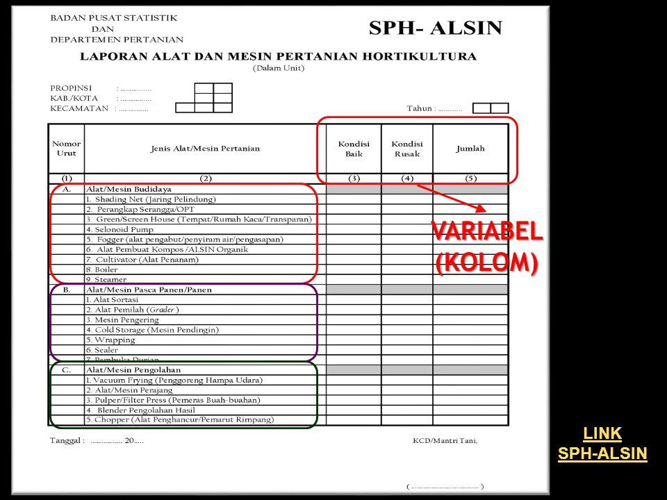 VARIABEL (KOLOM) LINK SPH-ALSIN