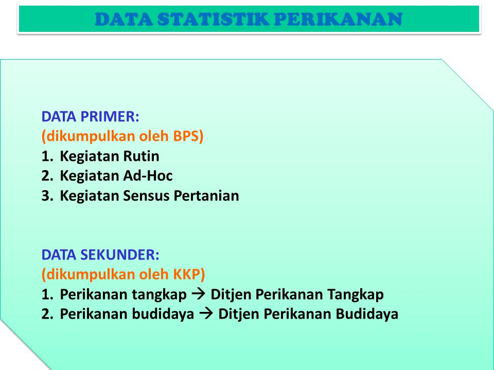 DATA STATISTIK PERIKANAN