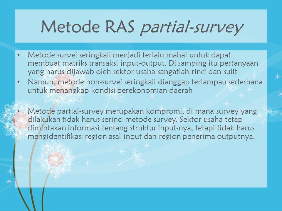 Metode RAS partial-survey