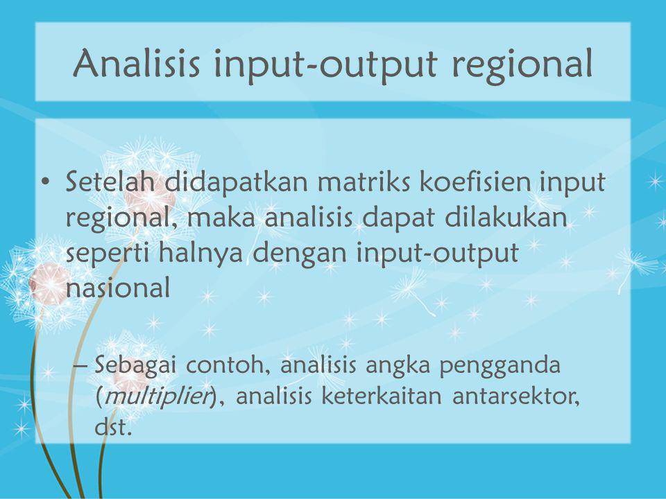 Analisis input-output regional
