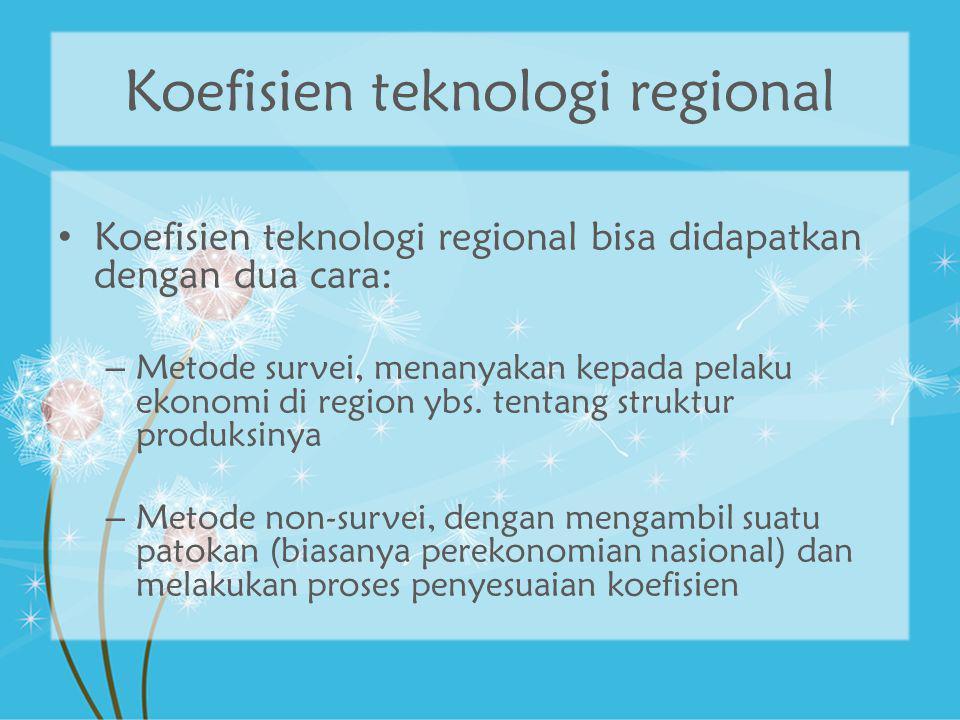 Koefisien teknologi regional